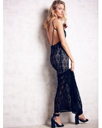 Free People | Black Stone Cold Fox Womens Logan Gown | Lyst