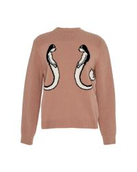 N°21 - Natural Melitina Round Neck Knit - Lyst