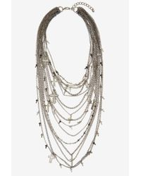 Nasty Gal | Metallic Babe Almighty Layered Chain Necklace | Lyst
