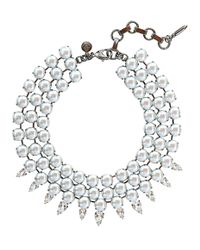Loren Hope | White Lorelai Pearl Collar | Lyst