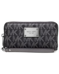 Michael Kors | Gray Michael Jet Set Large Multifunction Coin Case | Lyst