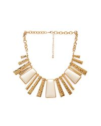 Forever 21 | Metallic Lacquered Fringe Necklace | Lyst