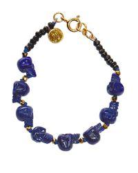 Jade Jagger | Blue Lapis Skull Bracelet | Lyst