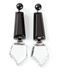 Emporio Armani - Black Geometric Earrings - Lyst