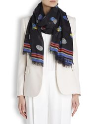 Stella McCartney - Superstellaheroes Black Modal Blend Scarf - Lyst