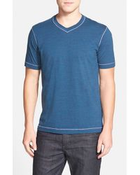 Robert Graham | Blue 'battleship' V-neck T-shirt for Men | Lyst