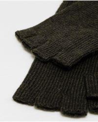 Zara | Black Knitted Fingerless Gloves for Men | Lyst