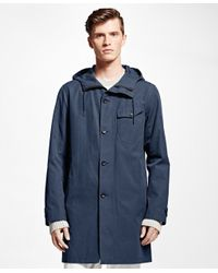 Brooks Brothers - Blue Covert Twill Mac Coat for Men - Lyst