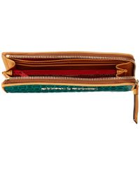 Dooney & Bourke - Green Claremont Woven Zip Clutch - Lyst