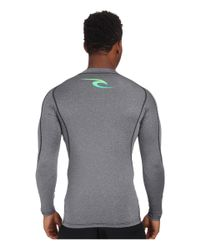 Rip Curl - Black Corp Long Sleeve Rashguard for Men - Lyst