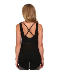 PUMA | Black St Burnout Layer Tank Top | Lyst