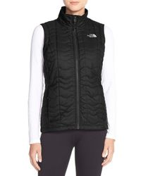 The North Face - Black 'bombay' Quilted Vest - Lyst