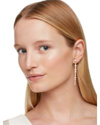 kate spade new york | Metallic Clear As Crystal Linear Ear Jacket | Lyst