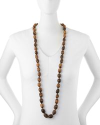 Eskandar | Brown Coco Rajado Single Necklace | Lyst