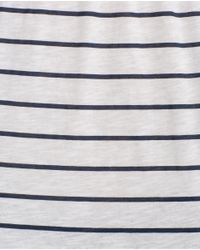 Zara | Blue Cotton T-shirt | Lyst