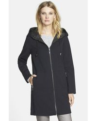 Trina Turk - Black 'Gabi' Reversible Hooded Topper - Lyst