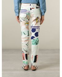 KENZO | Multicolor Printed Stretch Jean | Lyst