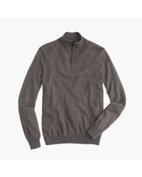 J.Crew - Gray Slim Merino Wool Half-zip Sweater for Men - Lyst