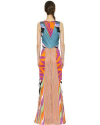 Missoni | Multicolor Patchwork Stretch Viscose Knit Dress | Lyst