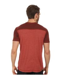 Agave - Red Nihiwatu Short Sleeve Streaky Jersey V-neck for Men - Lyst