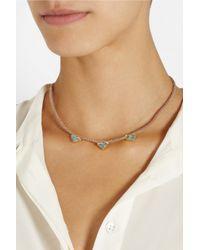 Brooke Gregson - Metallic 18karat Gold Aquamarine Necklace - Lyst