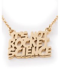 Marc By Marc Jacobs   Metallic 'It'S Not Rocket Science' Necklace   Lyst