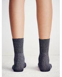 Free People - Gray West Street Ankle Sock - Lyst