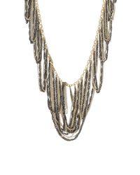 BCBGMAXAZRIA - Metallic Looped Fringe Necklace - Lyst