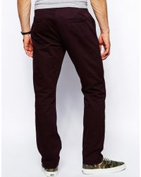 ASOS - Purple Straight Chinos for Men - Lyst