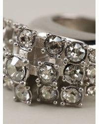 Alexander McQueen - Metallic Crystal Cluster Ring - Lyst