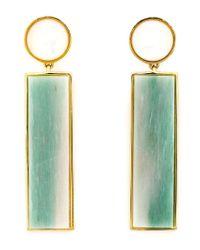 Lizzie Fortunato - Green Column Drop Earrings - Lyst