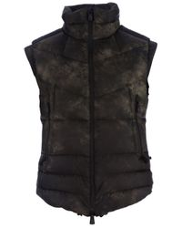 Moncler | Black Padded Gilet for Men | Lyst