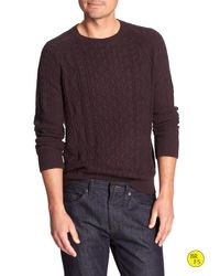 Banana Republic - Red Factory Cable-knit Sweater for Men - Lyst