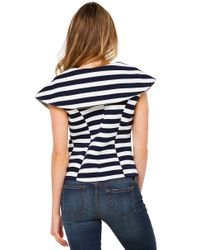 Gracia - Blue I'm On A Boat Navy White Striped Neoprene Top - Lyst
