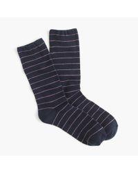 J.Crew - Blue Thin-striped Socks - Lyst