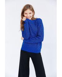 Glamorous | Blue Shrunken Lurex Sweater | Lyst