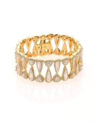 Adriana Orsini | Metallic Athena Teardrop & Trillion Bracelet | Lyst