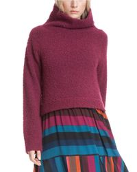Plenty by Tracy Reese | Brown Slouchy Turtleneck Sweater | Lyst