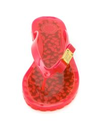 Marc By Marc Jacobs - Red Logo Jelly Flip Flops - Lyst