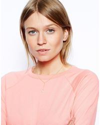 ASOS - Metallic Gold Plated Sterling Silver Faux Pearl Y Necklace - Lyst