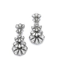 Ben-Amun - Metallic Crystal Statement Earrings - Clear - Lyst