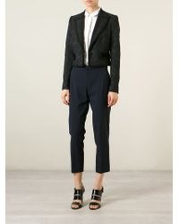 Dolce & Gabbana - Black Brocade Cotton-Blend Jacket - Lyst