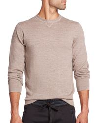 Saks Fifth Avenue | Natural Mouline Long-sleeve Merino Wool Sweater for Men | Lyst