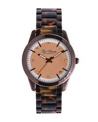 Ted Baker - Black 'classic Charm' Crystal Index Plastic Bracelet Watch - Lyst