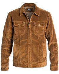 Quiksilver | Brown Waterman Santa Cruz Sherpa-lined Stretch Corduroy Jacket for Men | Lyst