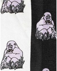ASOS - Black Gorilla Block Headscarf - Lyst