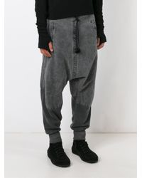 Lost and Found Rooms - Black Drop Crotch Track Pants for Men - Lyst