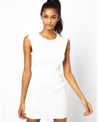AX Paris - Natural Dress With Open Back - Lyst