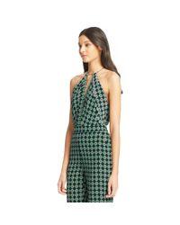 Diane von Furstenberg | Green Ireland Open Back Silk Jumpsuit | Lyst