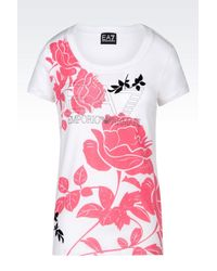 EA7 - White Short Sleeved T-shirt - Lyst